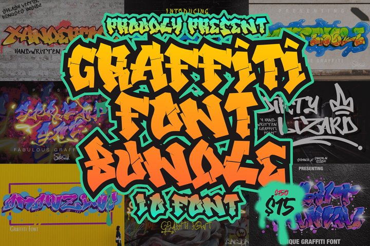 Graffiti Font Bundles Vol 1