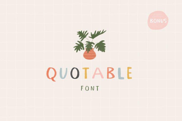 Quotable Font | SVG Color Font