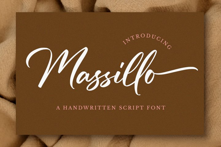 Massillo // Elegant Script Font