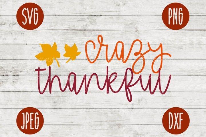 Crazy Thankful Thanksgiving SVG Fall Autumn Design