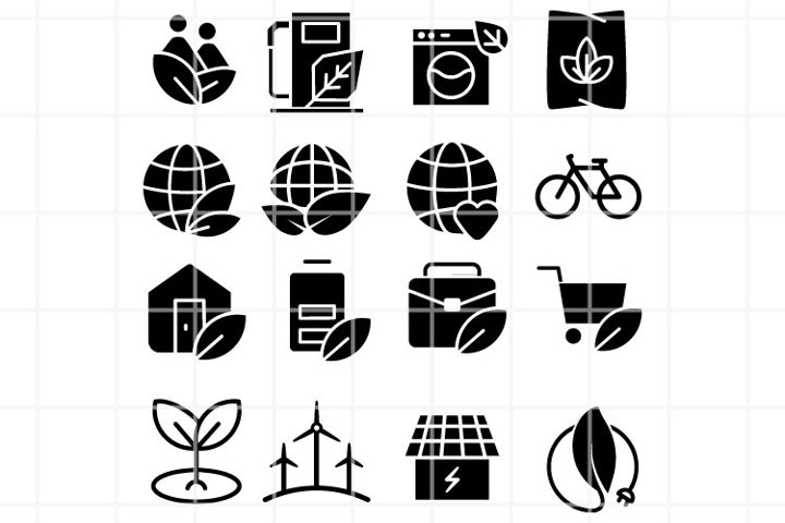 Ecology SVG. Eco set for cut. Bio or green cutting files.
