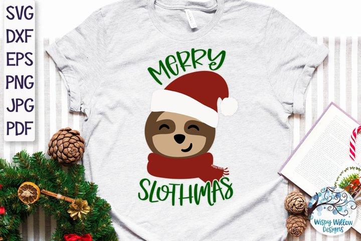 Merry Slothmas SVG | Christmas Sloth SVG