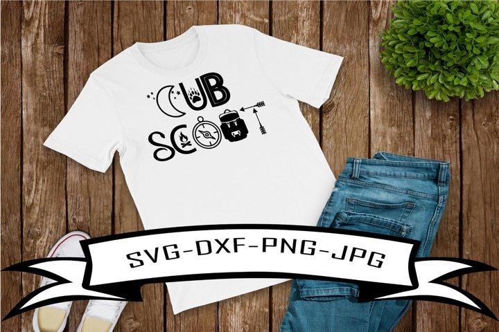 Cub Scout SVG-SDXF-JPG-PNG
