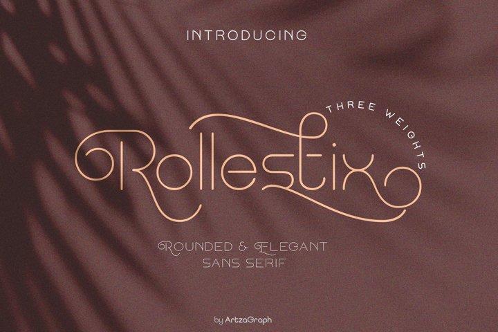 Rollestix - Rounded & Elegant sans serif