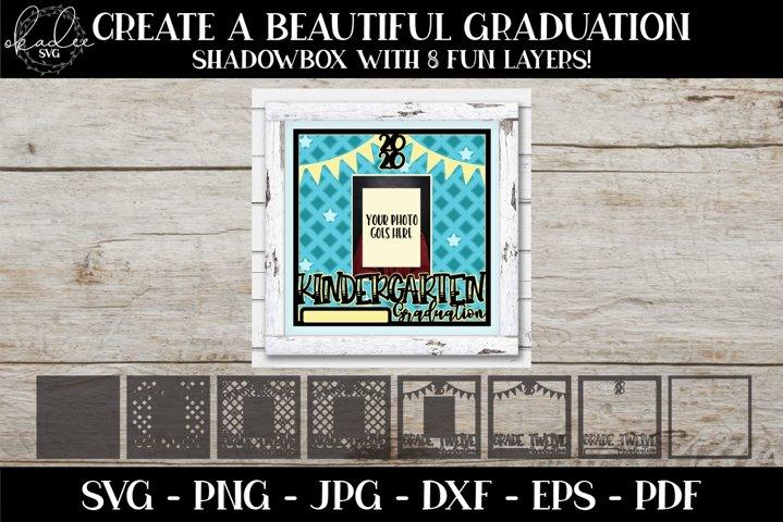 Kindergarten Graduation SVG, Photo Frame SVG, 3D Mandala SVG