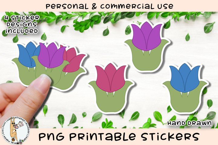Tulip Spring Flower Printable Stickers
