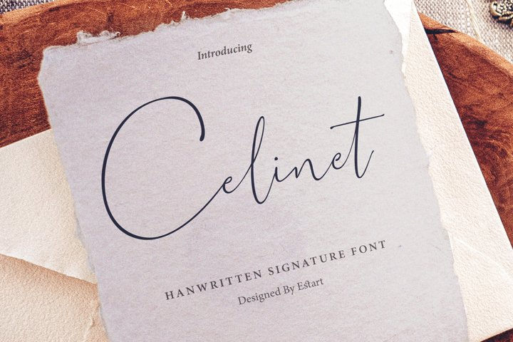 Celinet / Script font