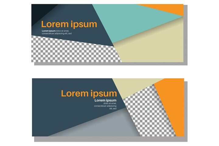 Vector abstract header and banner background. business web