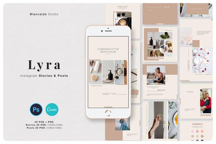 LYRA Social Media Pack | Canva, PSD