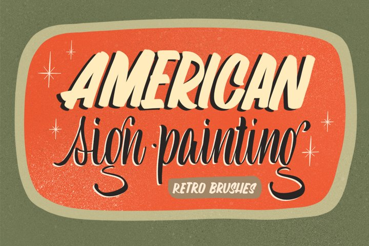Sign Painting Brushes for Procreate