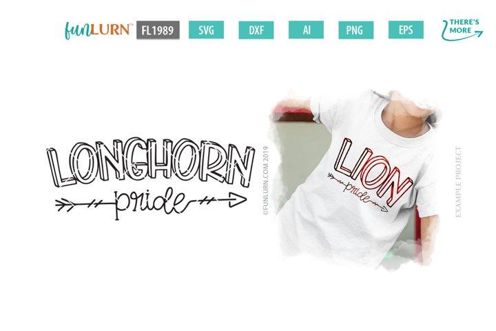 Longhorn Pride Team SVG Cut File