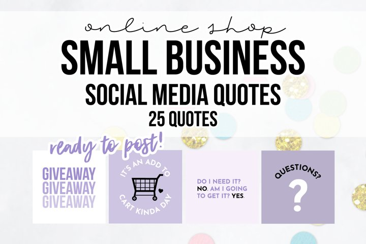 25 x Purple Online Business Social Media Quotes