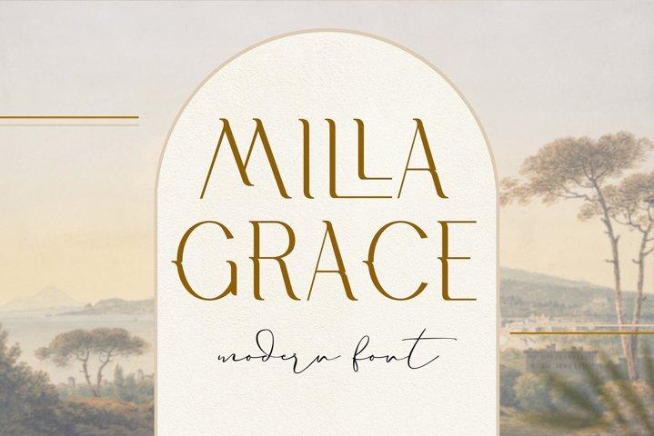 Milla Grace Modern classic Font