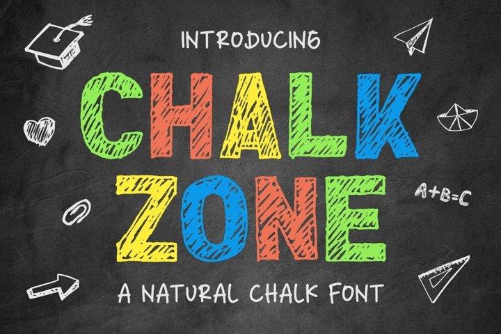Chalk Zone- A Natural Chalk Font