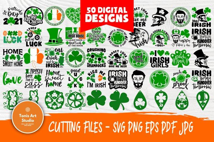 St Patricks Day SVG Bundle, Shamrock Svg, Clover Svg Files