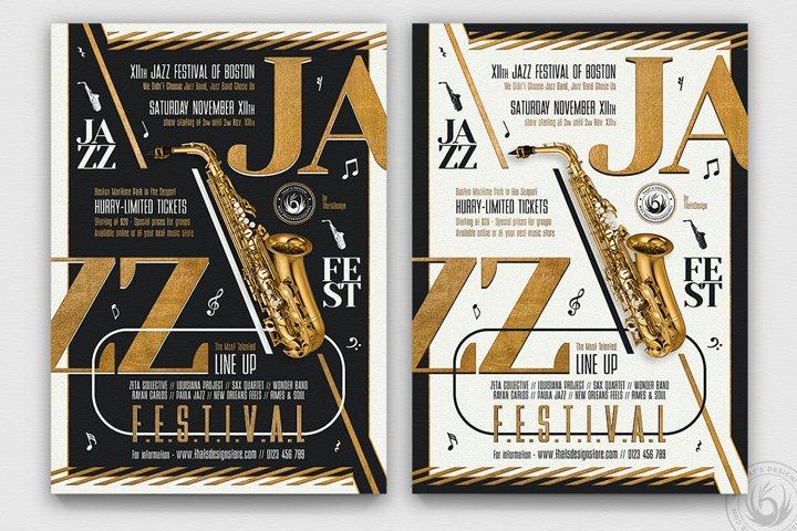 Golden Jazz Flyer Template V3