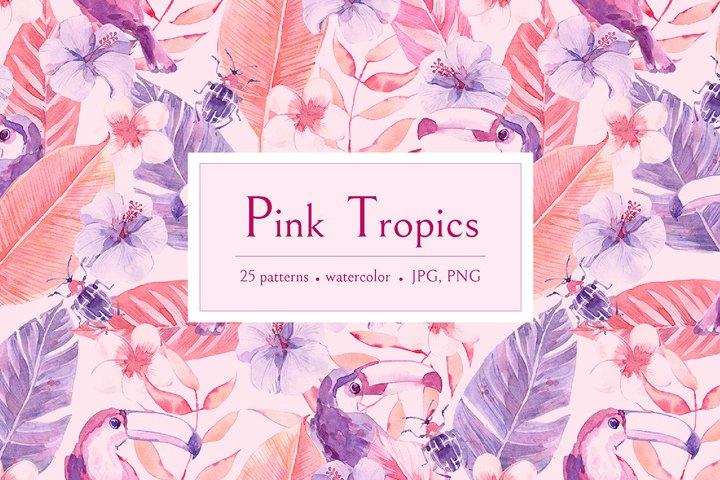 Pink Tropics patterns.