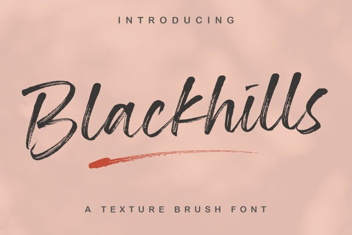 Blackhills - Brush Fonts