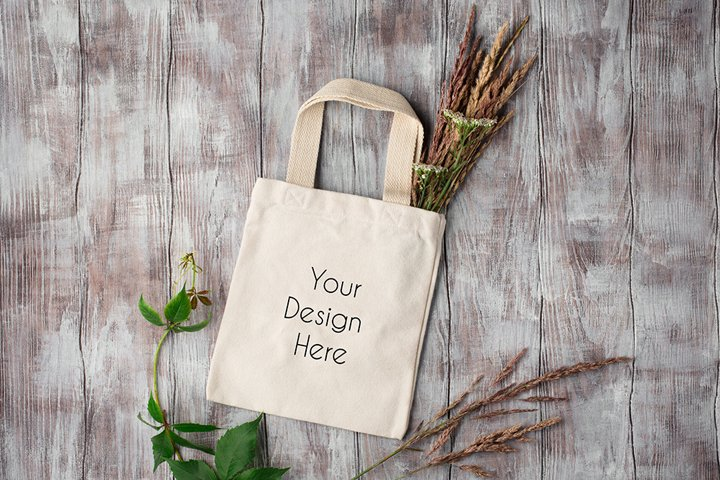 Autumn Cotton Tote Bag Mockup Photography #2