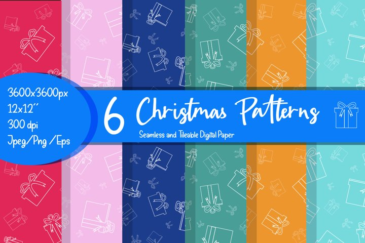 Christmas patterns bundle and digital paper