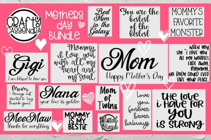 Mothers day bundle - Mom - Grandma - MeeMaw - Nana - Gigi