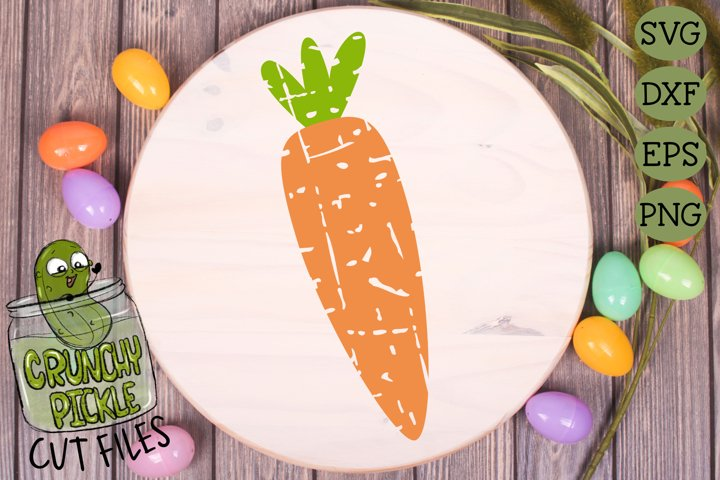 Plaid & Grunge Carrot Easter / Spring SVG Cut File example 1