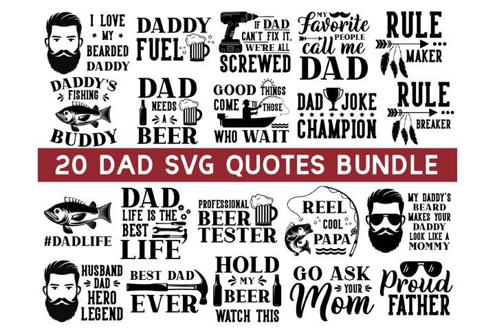 Dad Life SVG Bundle, Dad SVG, daddy svg, Fathers Day SVG