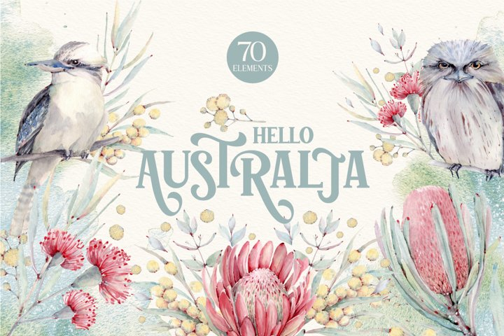 HELLO AUSTRALIA Watercolor set