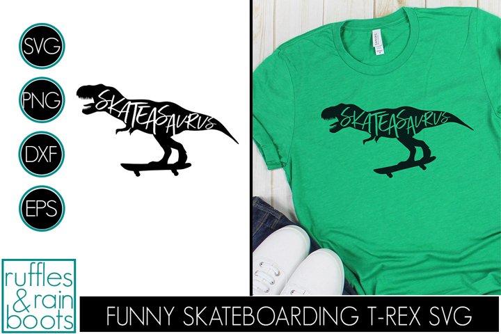 Skateasaurus - Dinosaur on Skateboard for Skateboarding Fans