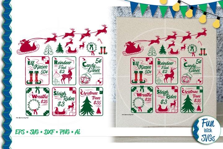 SVG Christmas Sign Bundle Vector, Cut File, Clip Art FWS478