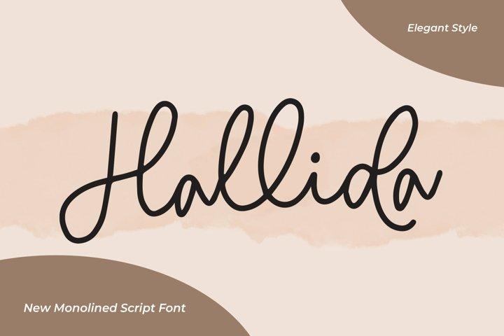 Web Font Hallida - Script Monoline Fonts