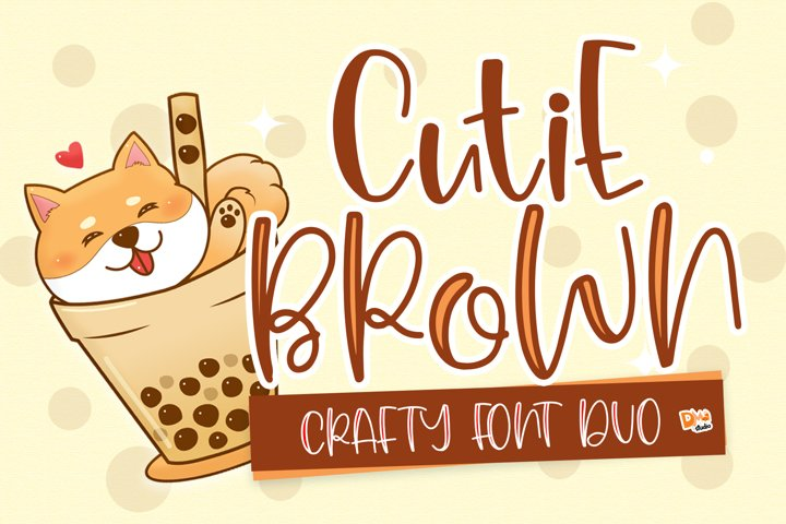 Cutie Brown Crafty Font Duo