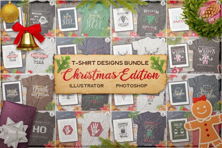 Christmas T-Shirt Bundle! SVG Cricut Huge Set! Xmas dxf png