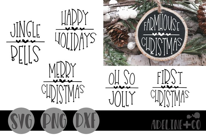 Round Christmas ornaments, SVG, PNG, DXF