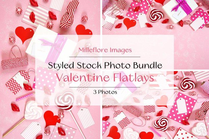 Valentine On-Trend Flatlays Styled Photos PLUS Color Palette
