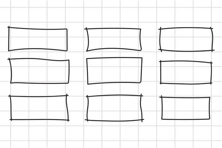 Hand drawn rectangle frame svg, png, cut file