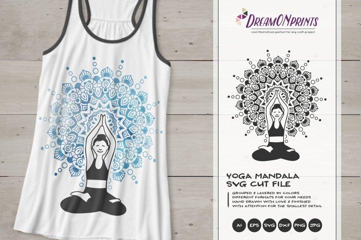 Mandala SVG   Yoga SVG Cut File