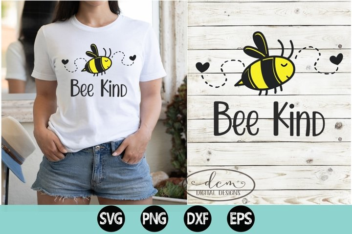 Bee Kind SVG PNG DXF EPS bumblebee kindness matters design