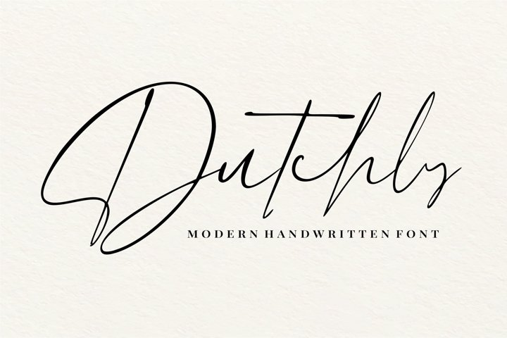 Dutchly - Modern Handwritten