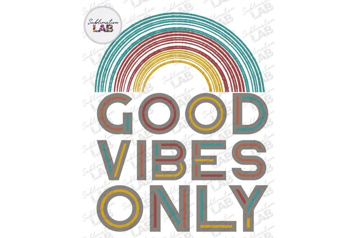 Good Vibes Only Sublimation Design PNG Summer Beach Hippie