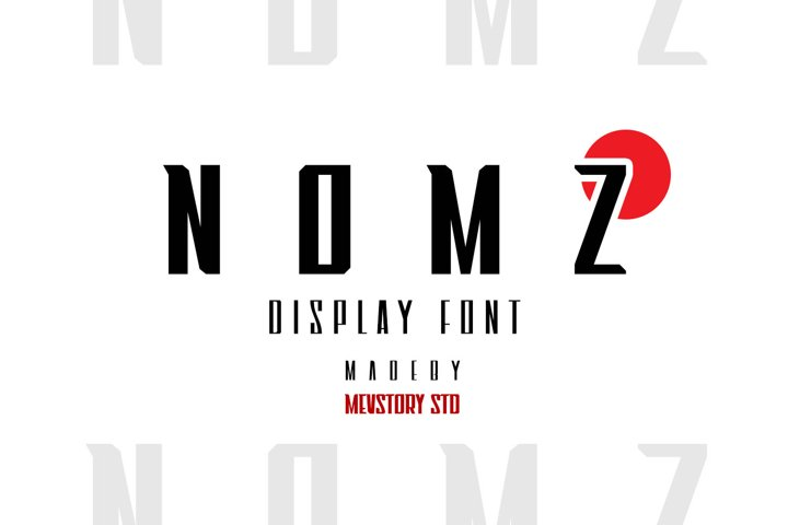 Nomz | Display Font