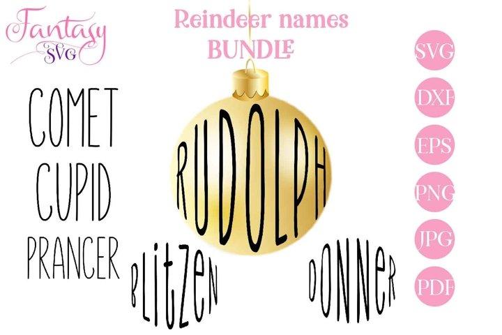 Reindeer Names Bundle - SVG Cut Files