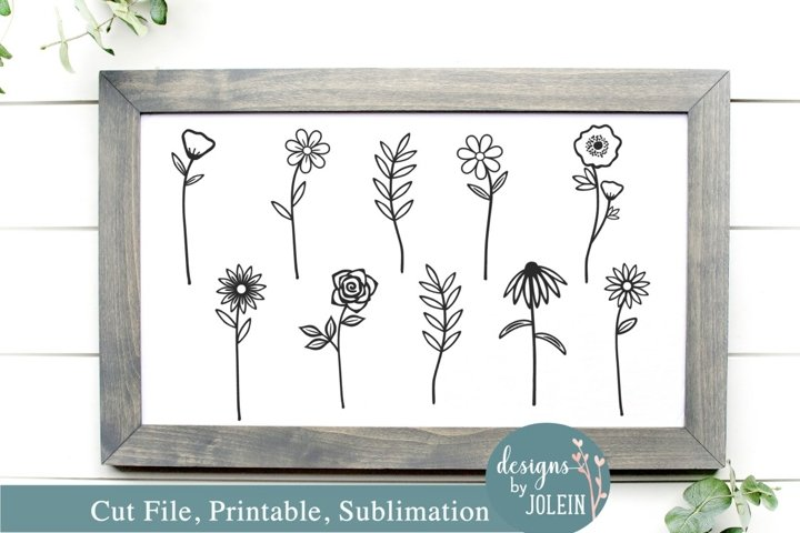 Wildflowers Design - SVG, Sublimation, Printable