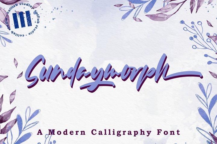 Sundaymorph - A Modern Calligraphy Font