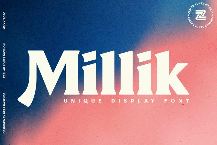 Millik - multipurpose unique font