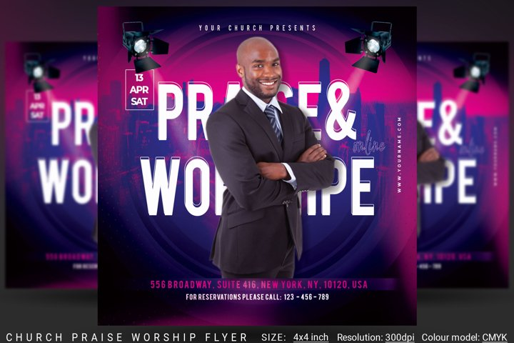 Church Praise Worship Flyer