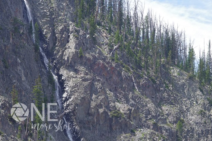Yellowstone National Park Waterfall - Western USA Photo