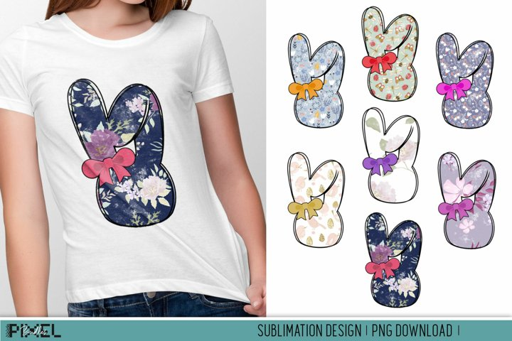 Easter Bunny Sublimation Bundle Bunny with Bow