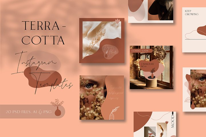 Terracotta Instagram Templates