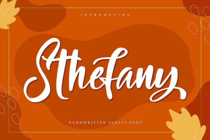 Sthefany | Handwritten Script Font